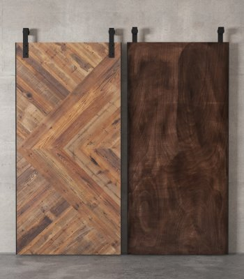 Urban Woodcraft | 40'' Reclaimed Wood Malibu Solid Core Barn Door