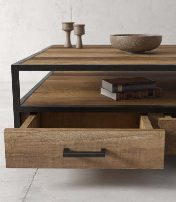 Urban Woodcraft   43'' Natural Opus Coffee Table