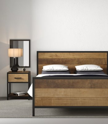 Urban Woodcraft   63'' Natural Opus Queen Bed