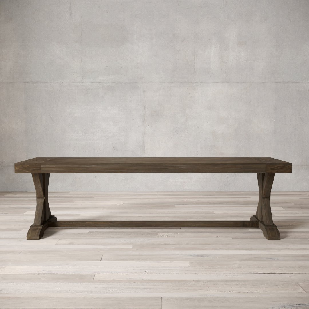 Urban Woodcraft | 66'' Salvaged Espresso X-Base Bench 1 MAIN