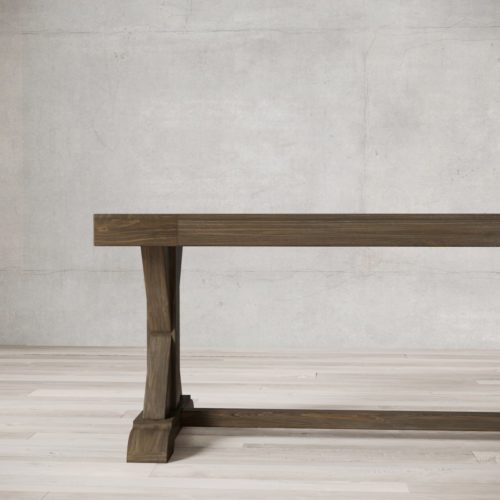 Urban Woodcraft | 66'' Salvaged Espresso X-Base Bench 5