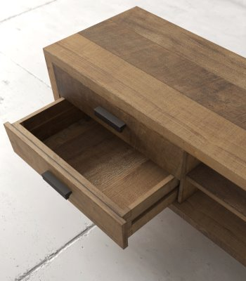 Urban Woodcraft | 67'' Multi-Coloured Teak Circa TV Stand
