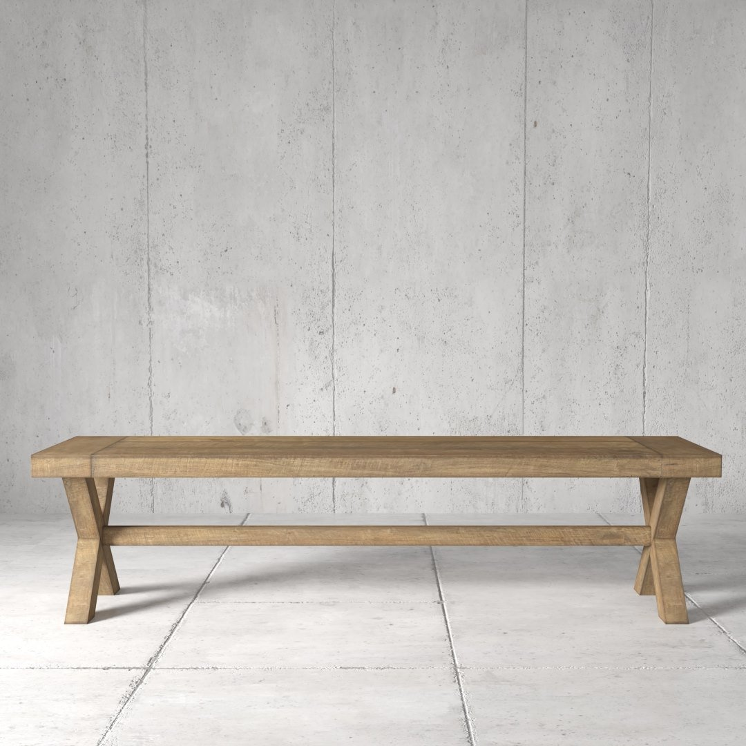 Urban Woodcraft | 70'' Natural Grand X Bench 1 Main