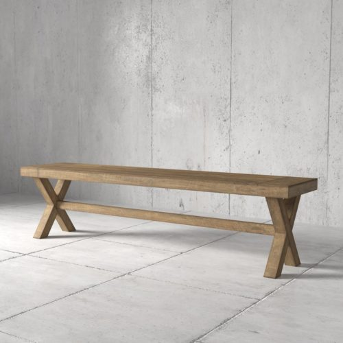 Urban Woodcraft | 70'' Natural Grand X Bench 3