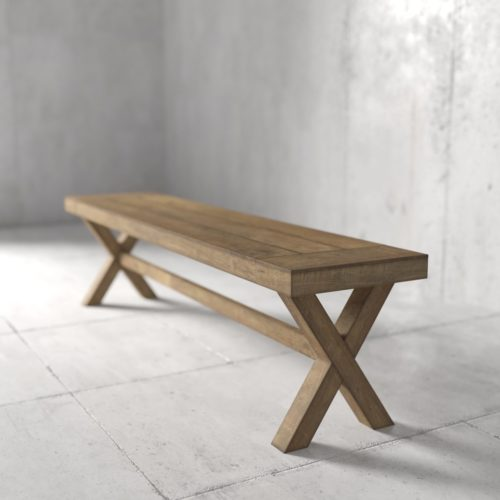 Urban Woodcraft | 70'' Natural Grand X Bench 4