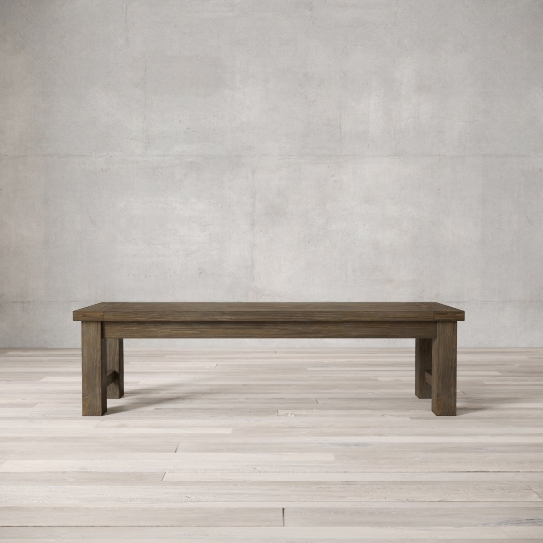 Urban Woodcraft | 70'' Salvaged Espresso Square Bench 1 MAIN