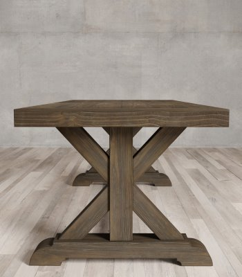 Urban Woodcraft | 98'' Salvaged Espresso X-Base Dining Table