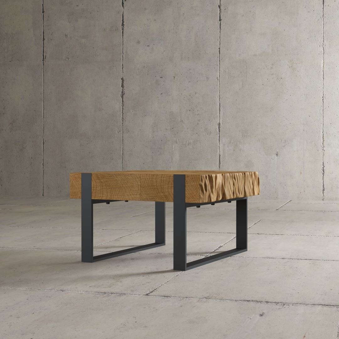 "24"" Chunky Rustic Modern Industrial Hudson Coffee End Sofa Table"