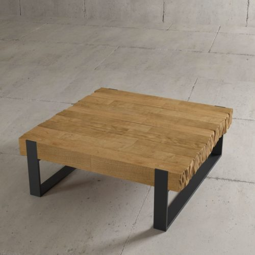 "Urban Woodcraft | 40"" Natural Hudson Coffee Table 2"