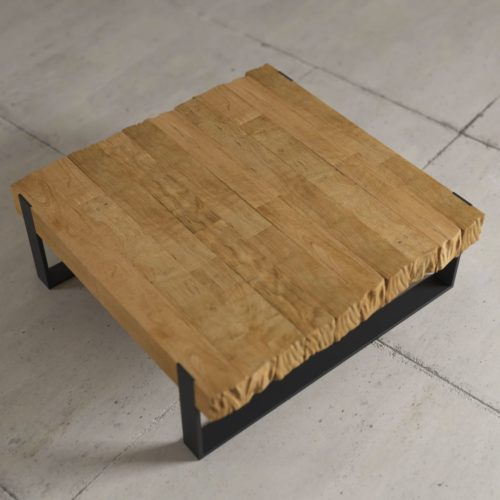 "Urban Woodcraft | 40"" Natural Hudson Coffee Table 4"