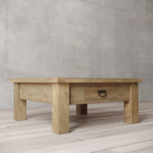 "Urban Woodcraft | 40"" Natural Riverbend Coffee Table 3"