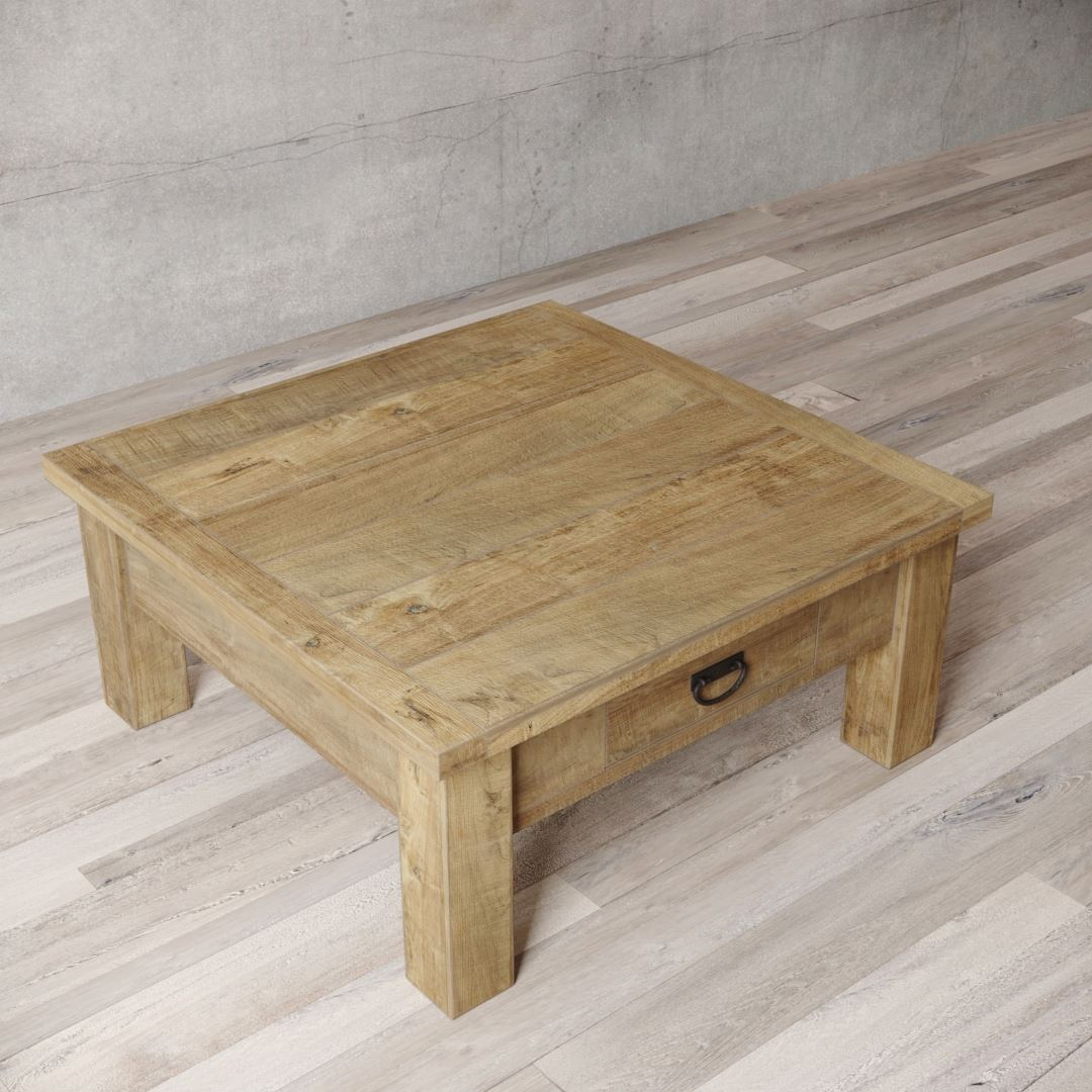 "Urban Woodcraft | 40"" Natural Riverbend Coffee Table 4"