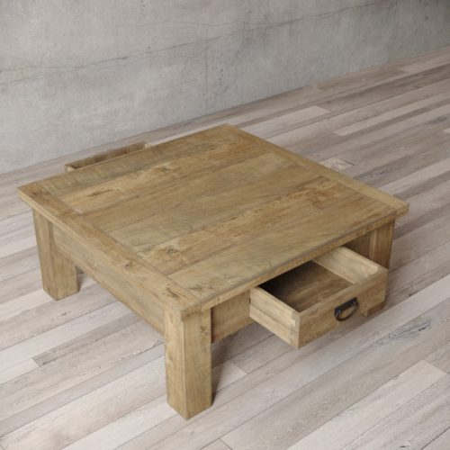 "Urban Woodcraft | 40"" Natural Riverbend Coffee Table 5"