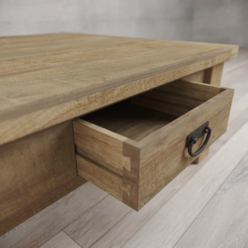 "Urban Woodcraft | 40"" Natural Riverbend Coffee Table 6"