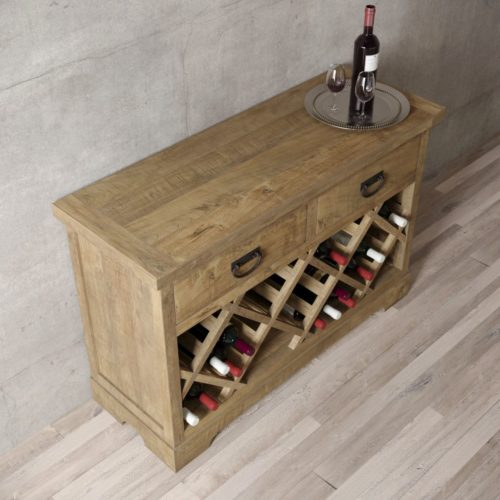 "Urban Woodcraft | 46"" Natural Riverbend Wine Bar 3"