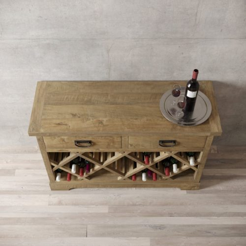 "Urban Woodcraft | 46"" Natural Riverbend Wine Bar 4"