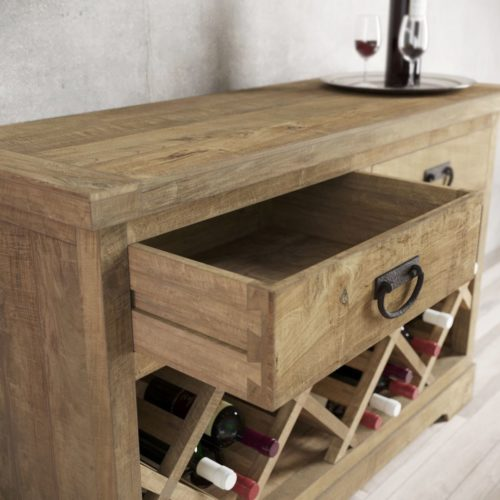 "Urban Woodcraft | 46"" Natural Riverbend Wine Bar 5"