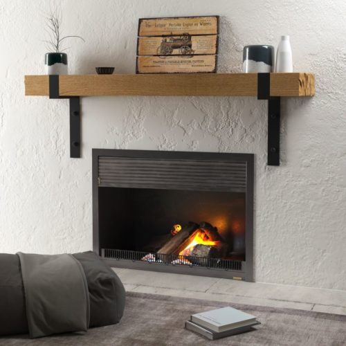 Urban Woodcraft | 48'' Natural Wall Mantel 1 MAIN
