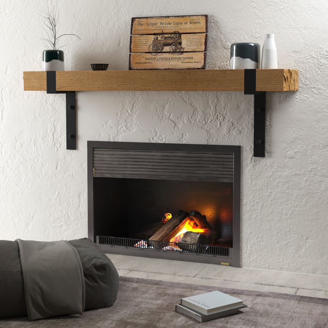 Urban Woodcraft Mantel Fireplace Solid Wood Shelf Hudson Collection Very Nice and Chunky Wood
