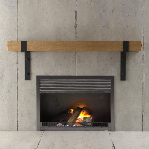Urban Woodcraft | 48'' Natural Wall Mantel 2