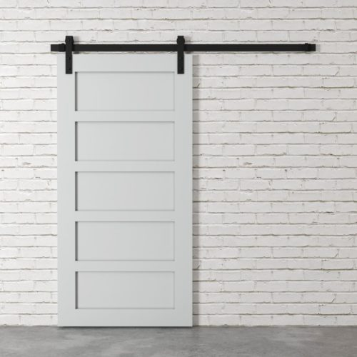 Urban Woodcraft | 5 Panel Grey Barn Door 2