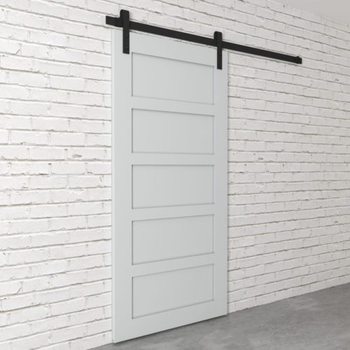 Urban Woodcraft | 5 Panel Grey Barn Door 3