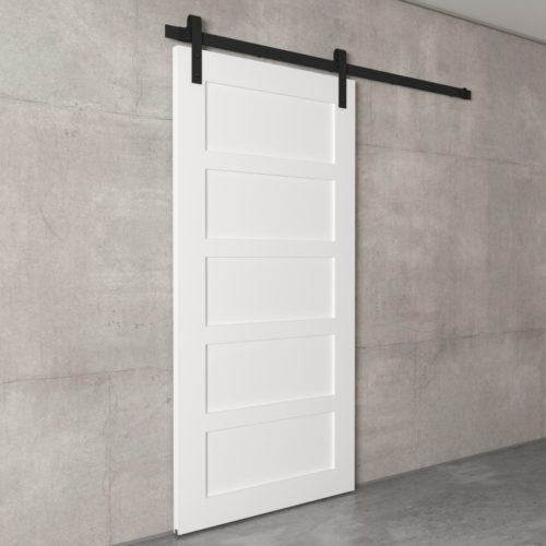 Urban Woodcraft | 5 Panel White Barn Door 3