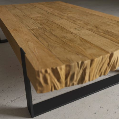 Urban Woodcraft | 55'' Natural Hudson Coffee Table 5