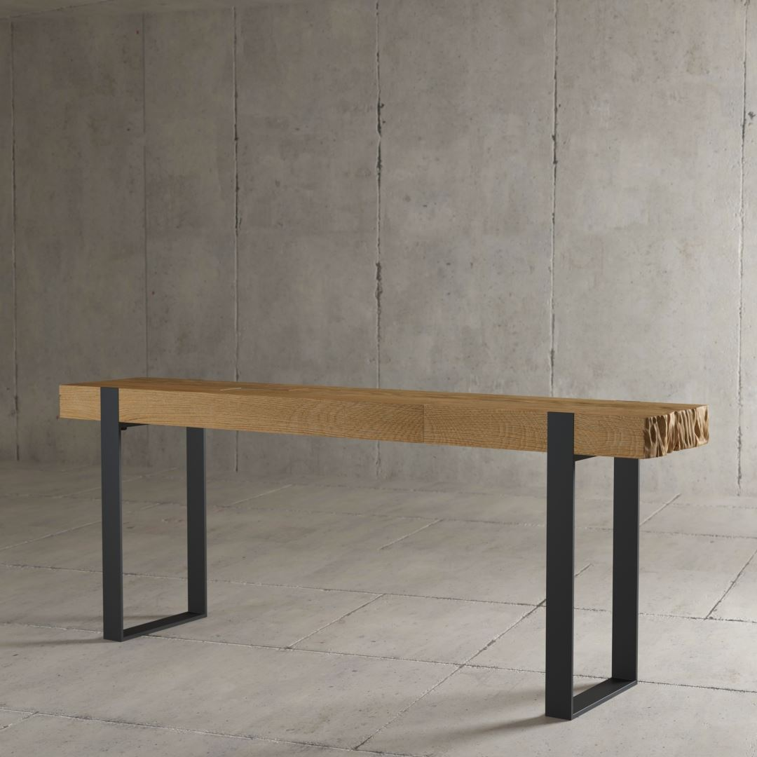 "Reclaimed Wood Urban Woodcraft Modern Industrial Console 55"" Hudson"