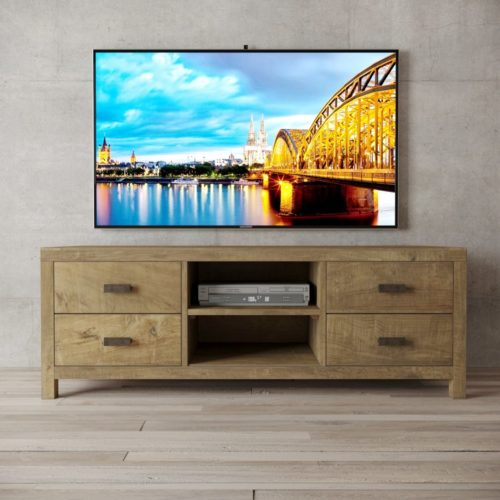 Urban Woodcraft | 58'' Natural Reclaimed Teak Brookside TV Stand 1 MAIN