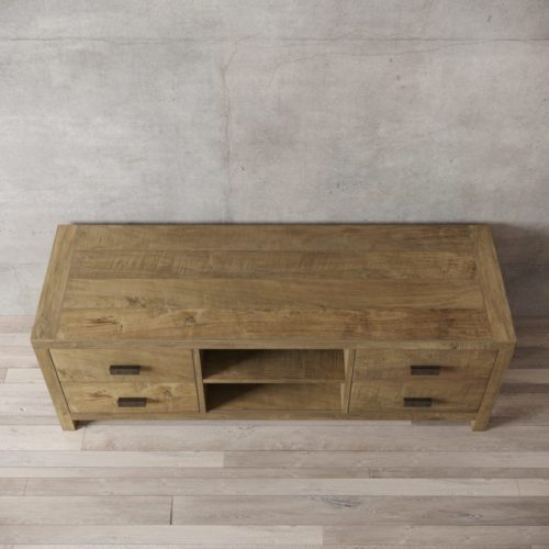 Urban Woodcraft | 58'' Natural Reclaimed Teak Brookside TV Stand 3