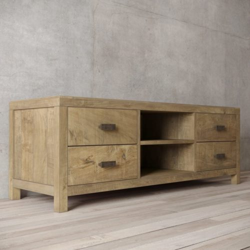 Urban Woodcraft | 58'' Natural Reclaimed Teak Brookside TV Stand 4