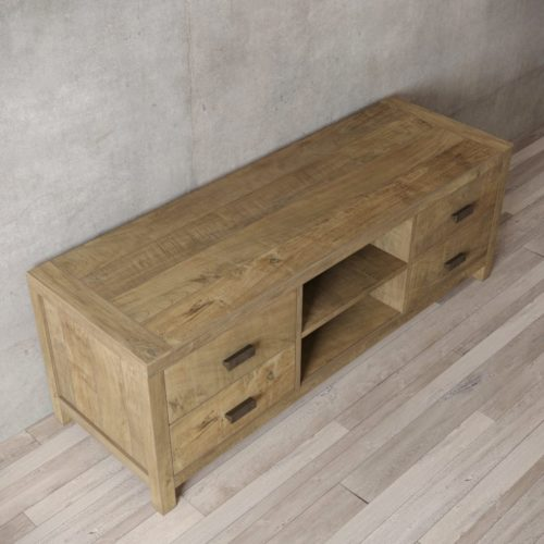 Urban Woodcraft | 58'' Natural Reclaimed Teak Brookside TV Stand 5