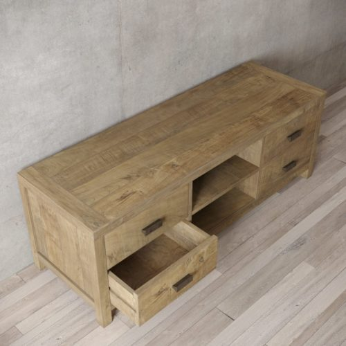 Urban Woodcraft | 58'' Natural Reclaimed Teak Brookside TV Stand 6