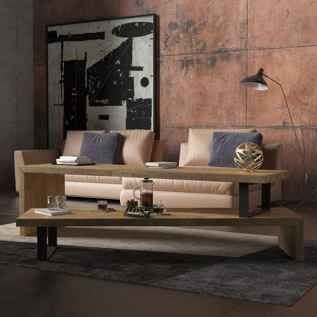 Urban Woodcraft   59'' Natural Soma TV Stand 2 MAIN