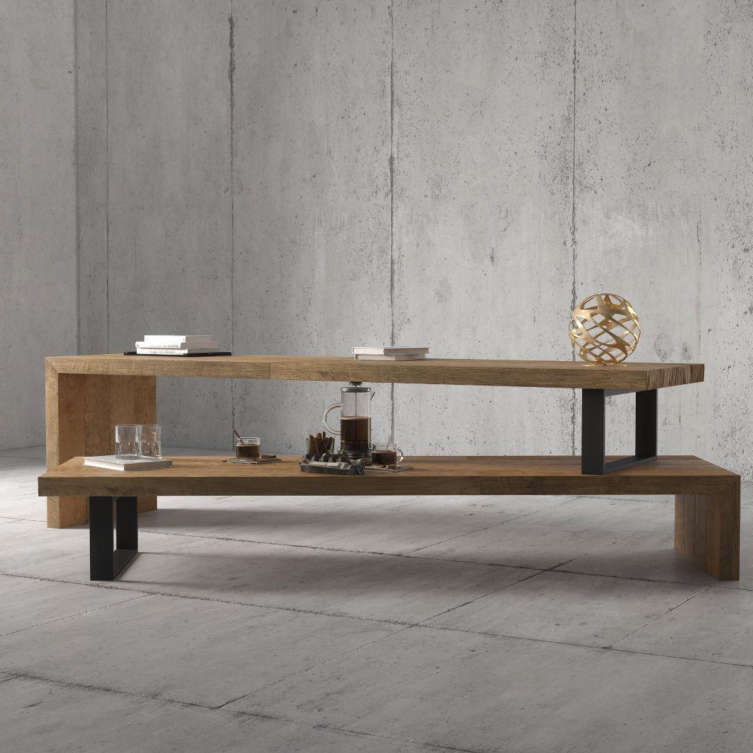 Urban Woodcraft | 59'' Natural Soma TV Stand 4 MAIN