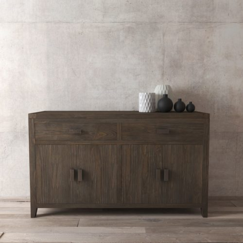 "Urban Woodcraft | 60"" Salvaged Espresso Brookside Dining Buffet 3"
