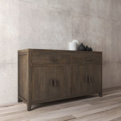 "Urban Woodcraft | 60"" Salvaged Espresso Brookside Dining Buffet 4"