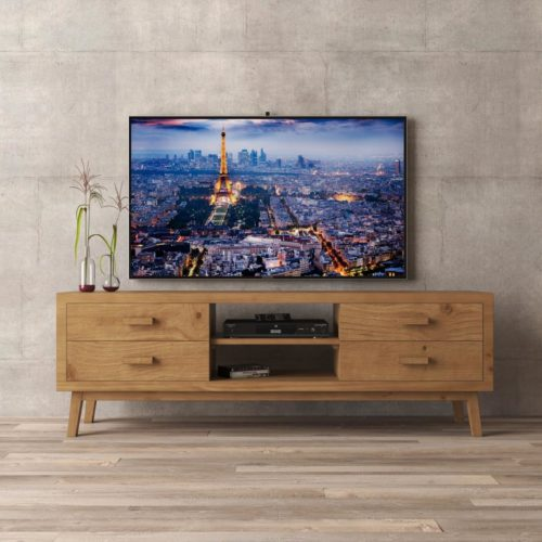 Urban Woodcraft | 67'' Circa TV Stand in Antique Natural Wood 1 MAIN