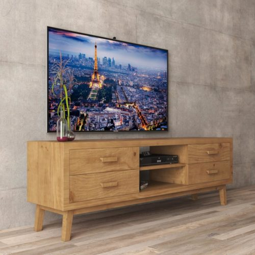 Urban Woodcraft | 67'' Circa TV Stand in Antique Natural Wood 3