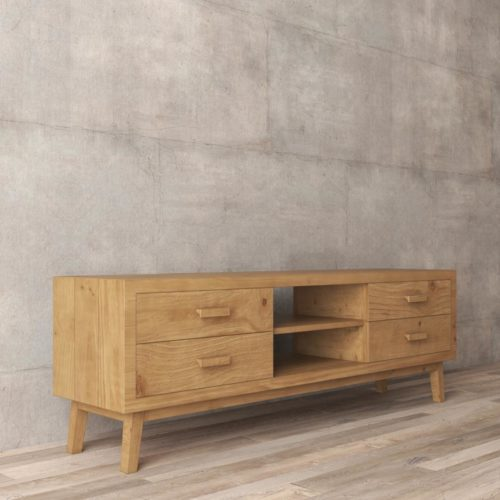 Urban Woodcraft | 67'' Circa TV Stand in Antique Natural Wood 5