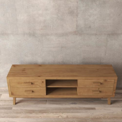 Urban Woodcraft | 67'' Circa TV Stand in Antique Natural Wood 6