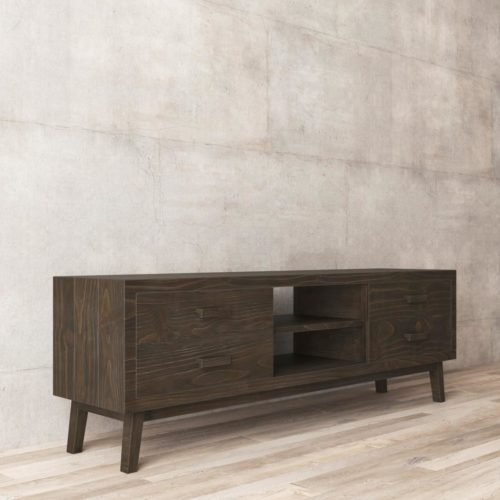 Urban Woodcraft | 67'' Circa TV Stand in Salvaged Espresso 5