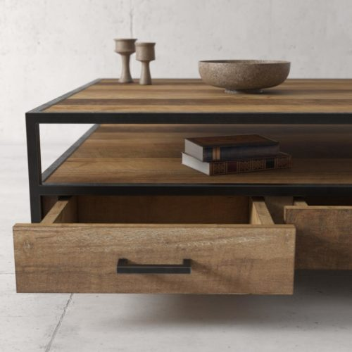 Urban Woodcraft | 67'' Opus Reclaimed Wood TV Stand 5