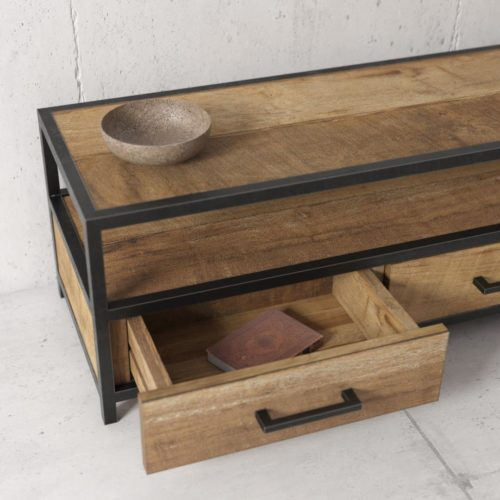 Urban Woodcraft | 67'' Opus Reclaimed Wood TV Stand 6