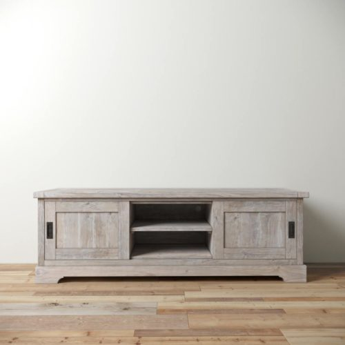 Urban Woodcraft | 68'' Muskoka TV Stand in White Wash 2