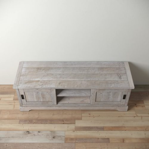 Urban Woodcraft | 68'' Muskoka TV Stand in White Wash 3