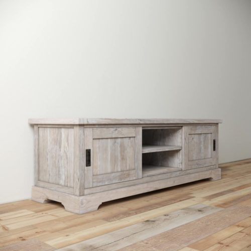 Urban Woodcraft | 68'' Muskoka TV Stand in White Wash 4