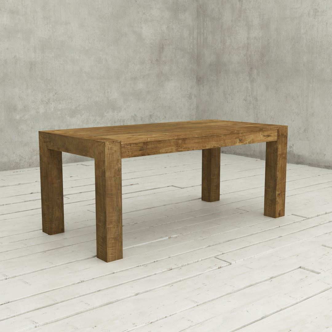 """Urban Woodcraft 70"""" Agency Villa Reclaimed Wood Dining Table Natural Wood Finished"""