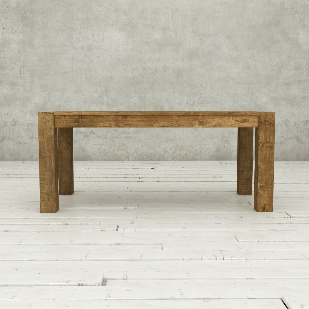 "Urban Woodcraft | 70"" Reclaimed Teak Natural Villa Dining Table 2"